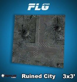 Frontline Gaming FLG Mats: Ruined City 3x3'