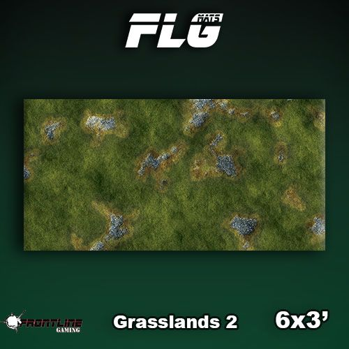Frontline Gaming FLG Mats: Grasslands 2 6x3'