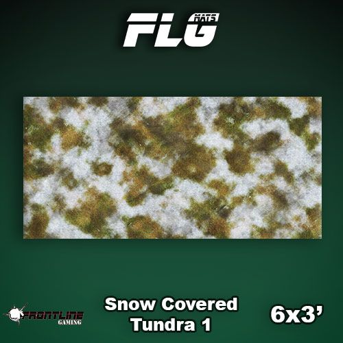 Frontline-Gaming FLG Mats: Snow Covered Tundra 1 6x3'