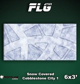 Frontline-Gaming FLG Mats: Snow Covered Cobblestone City 1 6x3'