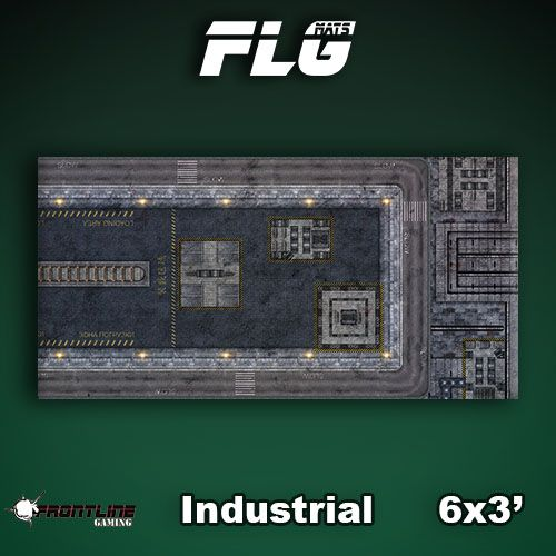Frontline Gaming FLG Mats: Industrial 1 6x3'