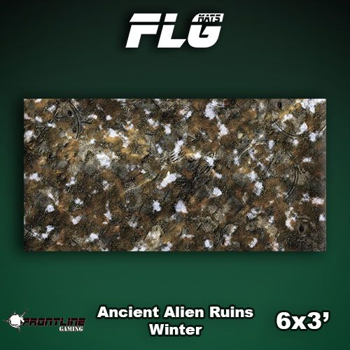 Frontline Gaming FLG Mats: Ancient Alien Ruins Winter 6x3'