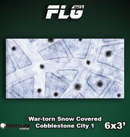 Frontline-Gaming FLG Mats: War-torn Snow Covered Cobblestone City 1 6x3'