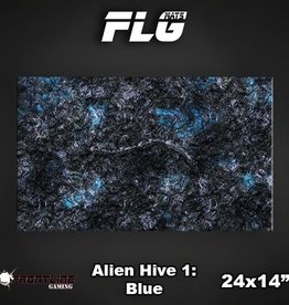 "Frontline-Gaming FLG Mats: Alien Hive Blue 24"" x 14"""