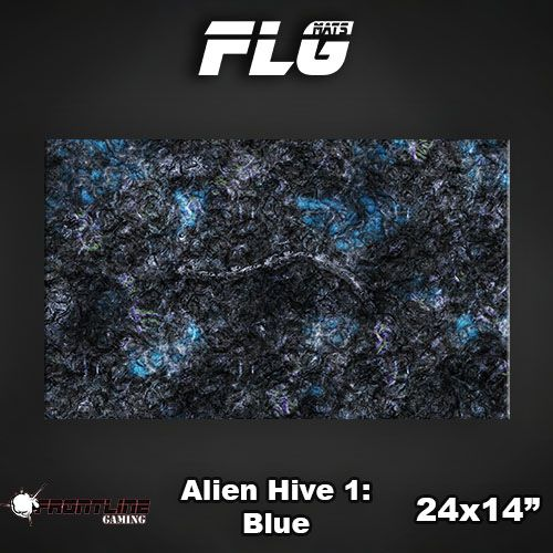 "Frontline Gaming FLG Mats: Alien Hive Blue 24"" x 14"""