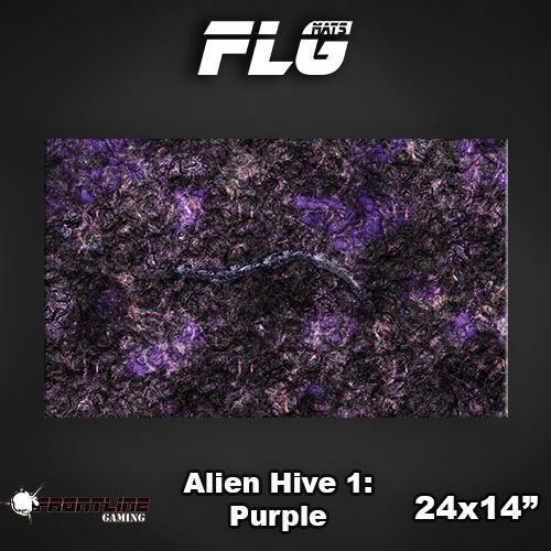 "Frontline-Gaming FLG Mats: Alien Hive Purple 24"" x 14"""