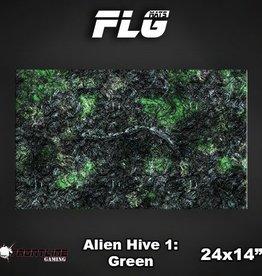 "Frontline-Gaming FLG Mats: Alien Hive Green 24"" x 14"""