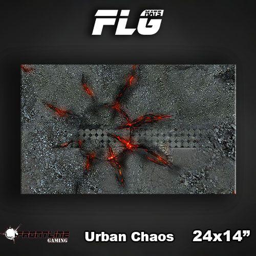 """Frontline-Gaming FLG Mats: Urban Chaos 24"""" x 14"""""""