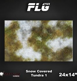 "Frontline Gaming FLG Mats: Snow Covered Tundra 24"" x 14"""