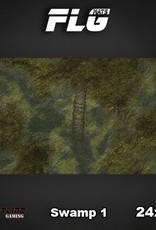 "Frontline-Gaming FLG Mats: Swamp 24"" x 14"""