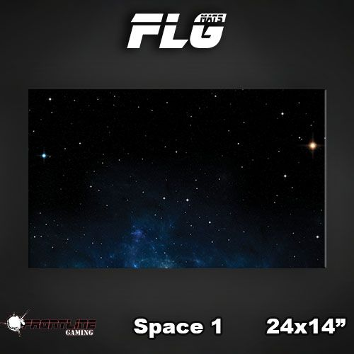 "Frontline-Gaming FLG Mats: Space 24"" x 14"""