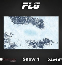 "Frontline-Gaming FLG Mats: Snow 24"" x 14"""
