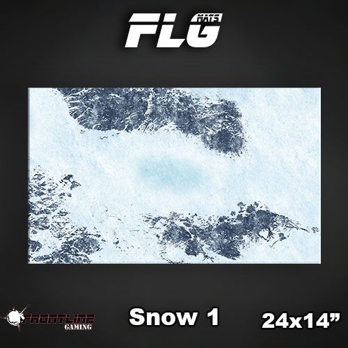 "Frontline-Gaming FLG Mats: Snow 24"" x 14"""