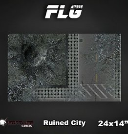 "Frontline-Gaming FLG Mats: Ruined City 24"" x 14"""
