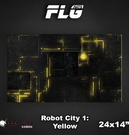 "Frontline-Gaming FLG Mats: Robot City Yellow 24"" x 14"""
