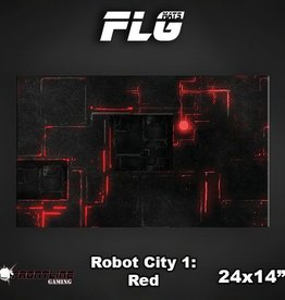 "Frontline-Gaming FLG Mats: Robot City Red 24"" x 14"""