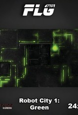 "Frontline-Gaming FLG Mats: Robot City Green 24"" x 14"""