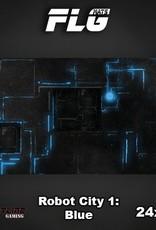 "Frontline-Gaming FLG Mats: Robot City Blue 24"" x 14"""