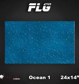 "Frontline-Gaming FLG Mats: Ocean 24"" x 14"""