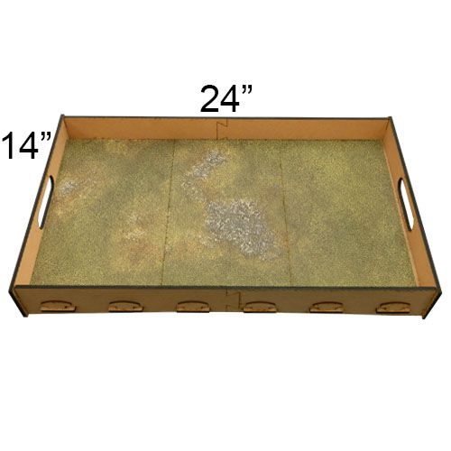 "Frontline-Gaming FLG Mats: Irradiated Plains 24"" x 14"""