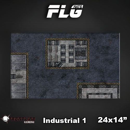 "Frontline-Gaming FLG Mats: Industrial 24"" x 14"""