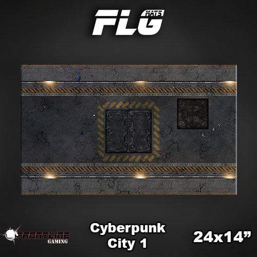 "Frontline-Gaming FLG Mats: Cyberpunk City 24"" x 14"""