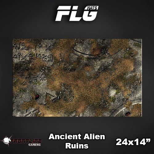 "Frontline-Gaming FLG Mats: Ancient Alien Ruins 24"" x 14"""