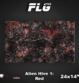 "Frontline Gaming FLG Mats: Alien Hive Red 24"" x 14"""