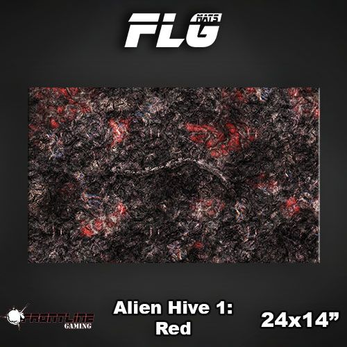 "Frontline-Gaming FLG Mats: Alien Hive Red 24"" x 14"""