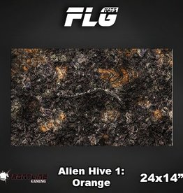 "Frontline Gaming FLG Mats: Alien Hive Orange 24"" x 14"""