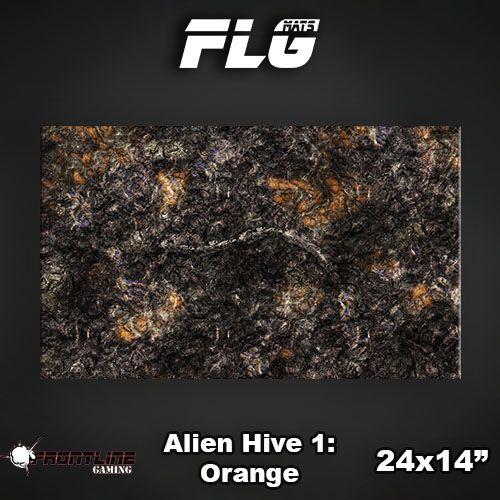 "Frontline-Gaming FLG Mats: Alien Hive Orange 24"" x 14"""