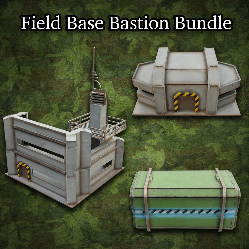 Frontline-Gaming ITC Terrain Series: Field Base Bastion Bundle