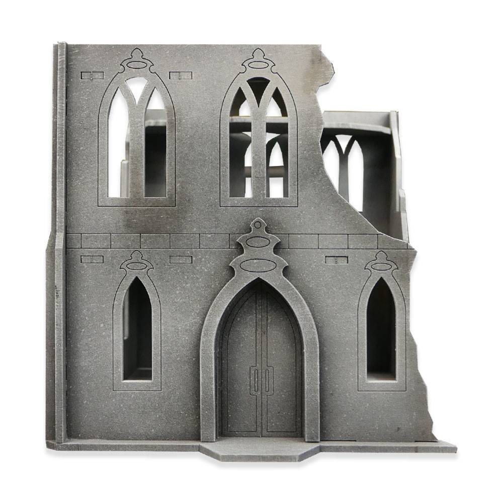 Frontline Gaming ITC Terrain Series: Gothic Ruins Complete Set W/ Mat