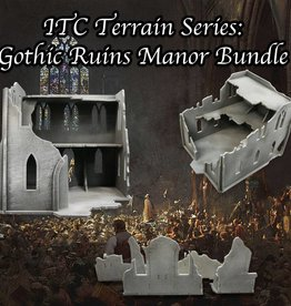 Frontline Gaming ITC Terrain Series: Gothic Ruins Manor Bundle