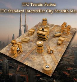 ITC Terrain Series: ITC Standard Interstellar City Set With Mat