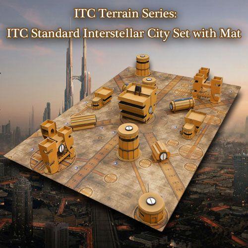 Frontline-Gaming ITC Terrain Series: ITC Standard Interstellar City Set With Mat