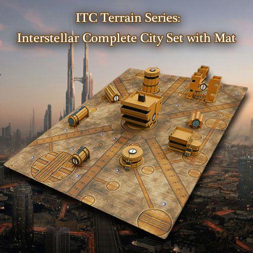 Frontline-Gaming ITC Terrain Series: Interstellar City Complete Set W/ Mat