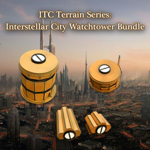 ITC Terrain Series: Interstellar City Watchtower Bundle