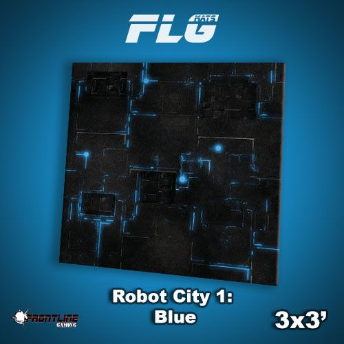 Frontline Gaming FLG Mats: Robot City 3x3