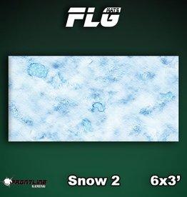 Frontline-Gaming FLG Mats: Snow 2 6x3'
