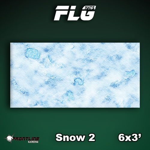 Frontline-Gaming FLG Mats: Snow 2 6x3'