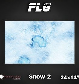 "Frontline-Gaming FLG Mats: Snow 2 24"" x 14"""