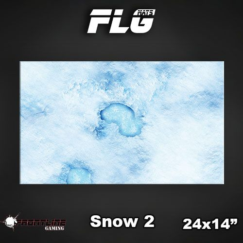 "Frontline Gaming FLG Mats: Snow 2 24"" x 14"""