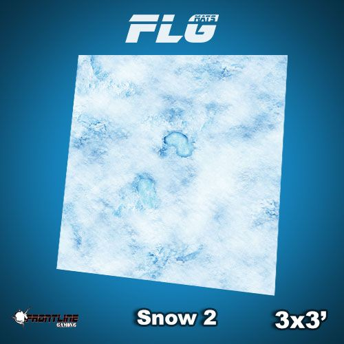 Frontline-Gaming FLG Mats: Snow 2 3x3'