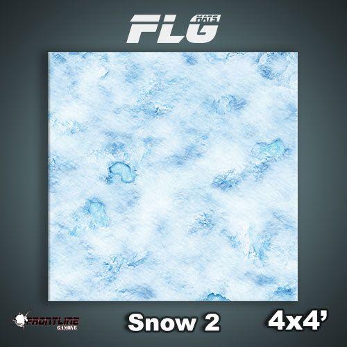 Frontline-Gaming FLG Mats: Snow 2 4x4'