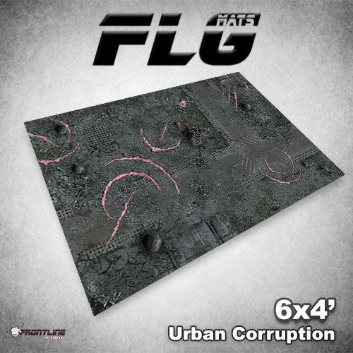Frontline Gaming FLG Mats: Urban Corruption 6x4'