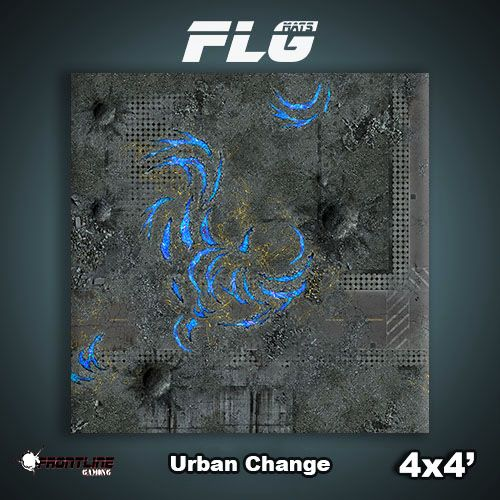 Frontline Gaming FLG Mats: Urban Change 4x4'