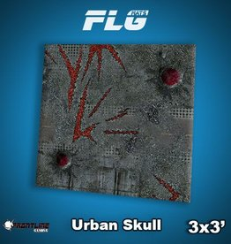 Frontline-Gaming FLG Mats: Urban Skull 3x3'