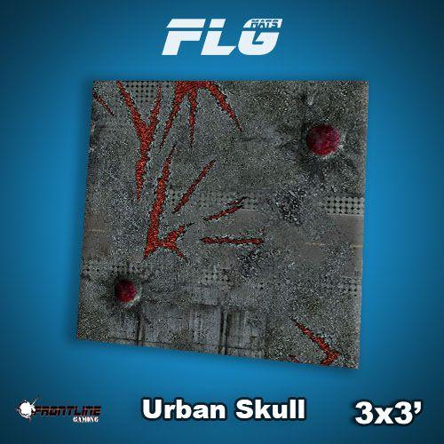 Frontline Gaming FLG Mats: Urban Skull 3x3'