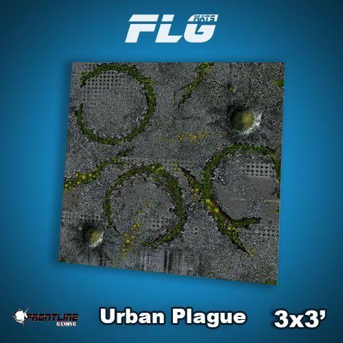 Frontline Gaming FLG Mats: Urban Plague 3x3'